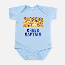 World's Greatest Cheer Captain Infant Bodysuit