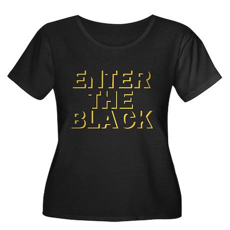Enter the Black Women's Plus Size Scoop Neck Dark