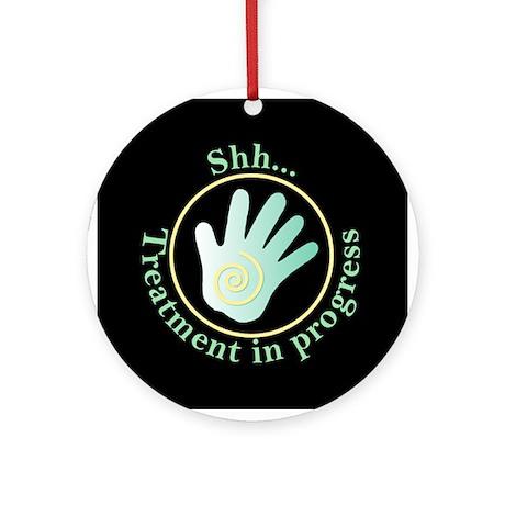 Shh Treatment In Progress Green Hand Ornament (Rou