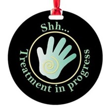 Shh Treatment In Progress Green Hand Ornament