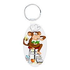 Monkey Chef Keychains