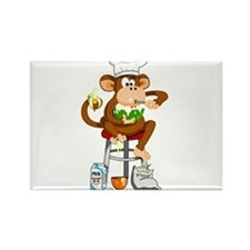 Monkey Chef Rectangle Magnet