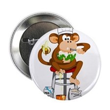 "Monkey Chef 2.25"" Button"