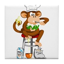 Monkey Chef Tile Coaster