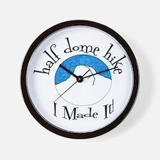 Half Dome Hike I Made It! Wall Clock