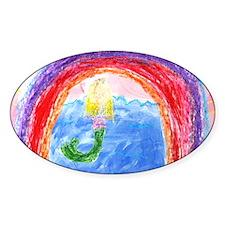 Rainbow mermaid, Decal
