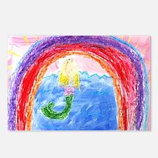 Rainbow mermaid, Postcards (Package of 8)