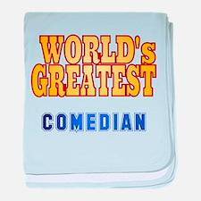 World's Greatest Comedian baby blanket