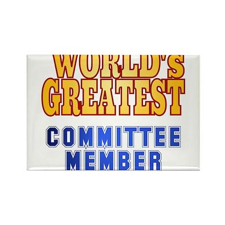 World's Greatest Committee member Rectangle Magnet