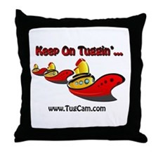 Keep on Tuggin' Throw Pillow