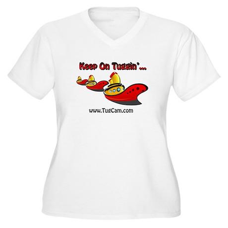 Keep on Tuggin' Women's Plus Size V-Neck T-Shirt
