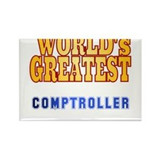 World's Greatest comptroller Rectangle Magnet