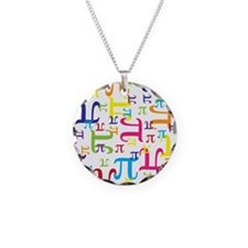 Pieces of Pi Necklace Circle Charm