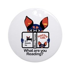 Reading Dog Ornament (Round)