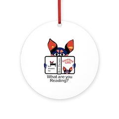 Reading Dog Ornament (Round)
