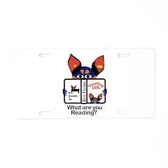 Reading Dog Aluminum License Plate