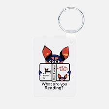 Reading Dog Keychains