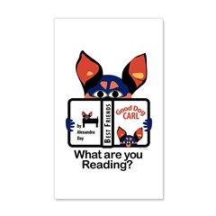 Reading Dog Wall Decal