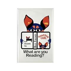 Reading Dog Rectangle Magnet (100 pack)