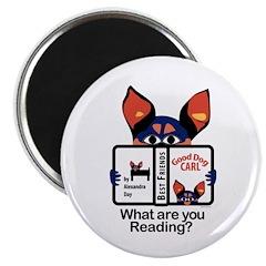 "Reading Dog 2.25"" Magnet (100 pack)"