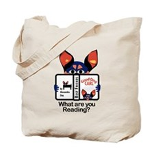 Reading Dog Tote Bag