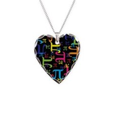 Pieces of Pi Necklace Heart Charm
