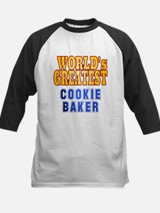 World's Greatest Cookie Baker Kids Baseball Jersey