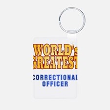 World's Greatest Correctional Officer Keychains