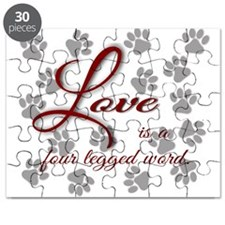 Love is a four legged word. Puzzle
