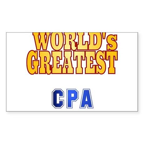 World's Greatest CPA Sticker (Rectangle)