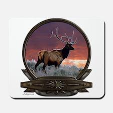 Bull elk at sunset Mousepad