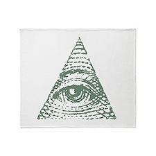 Masonic eye Throw Blanket