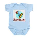 Snowboard Infant Creeper
