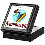 Snowboard Keepsake Box
