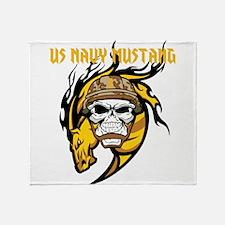US Navy Mustang Throw Blanket
