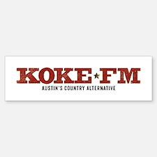 KOKE FM CALL LETTERS ONLY Bumper Bumper Bumper Sticker