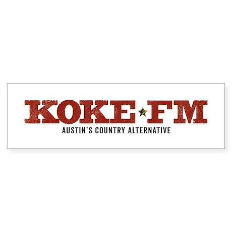 KOKE FM CALL LETTERS ONLY Bumper Sticker