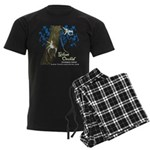 Ghost Orchid Men's Dark Pajamas