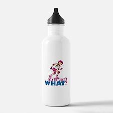 Pink Roller Derby Girl Water Bottle