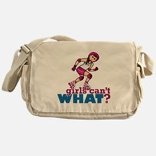 Pink Roller Derby Girl Messenger Bag