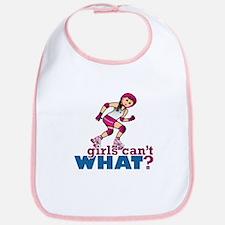 Pink Roller Derby Girl Bib