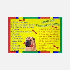 Cute Shar pei Rectangle Magnet (100 pack)