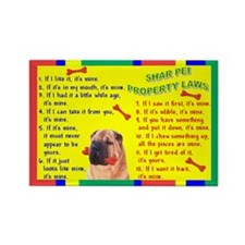 3-Property Laws -SharPei Magnets