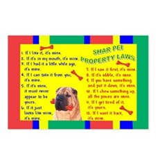 Unique Shar pei lovers Postcards (Package of 8)