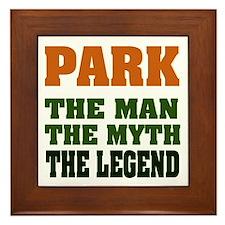 PARK - The Legend Framed Tile