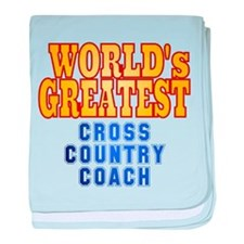 World's Greatest Cross Country Coach baby blanket