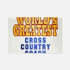World's Greatest Cross Country Coach Rectangle Mag