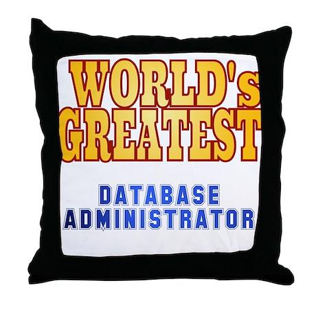 World's Greatest Database Administrator Throw Pill