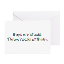 Boys Are Stupid Greeting Cards (Pk of 10)