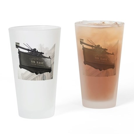 NYC Storm Drinking Glass